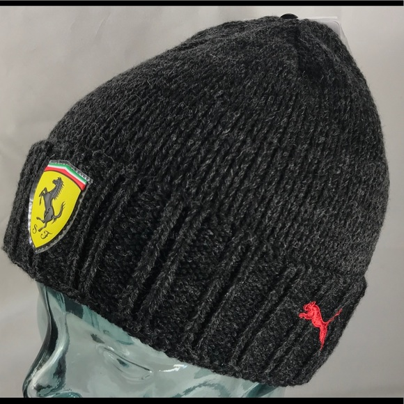 cacaf3bb765 Puma Ferrari Beanie Gray Authentic cap hat